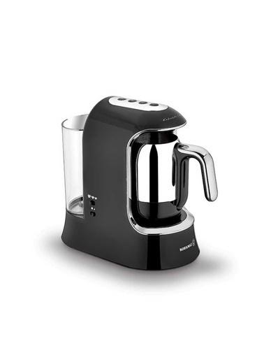 Korkmaz Kahvekolik Aqua Siyah/Krom Otomatik Kahve Makinesi Siyah